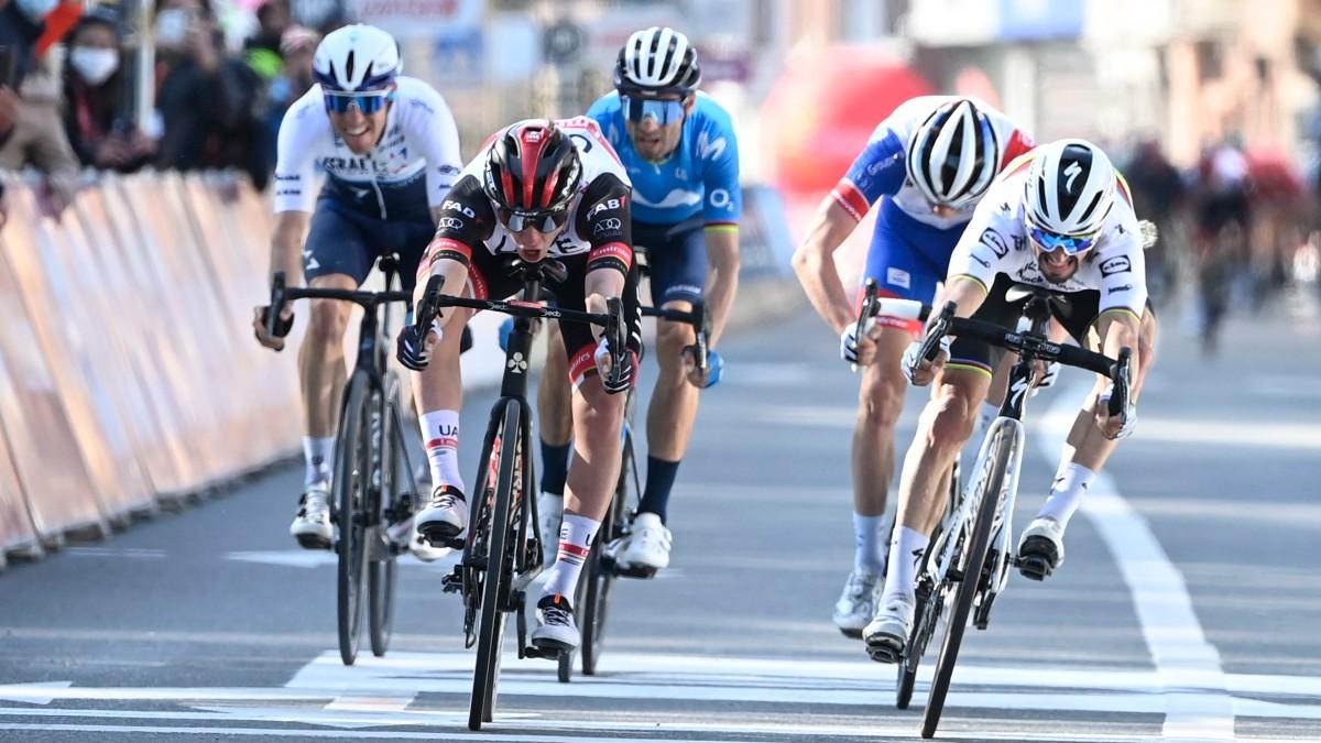 Pogacar gana y Valverde queda cuarto en Lieja. (AFP)