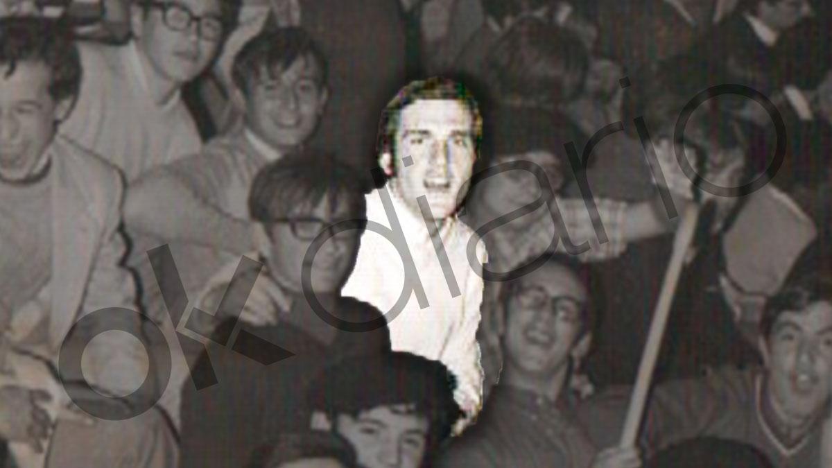 El hermano Ángel Gabilondo animando a los Corazonistas de Vitoria en 1971. (Imagen: cestaypuntos.blogspot.com)
