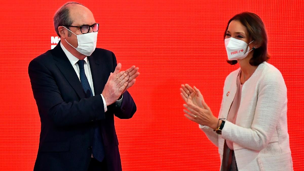 Ángel Gabilondo y Reyes Maroto en un acto electoral del PSOE. (Foto: Efe)