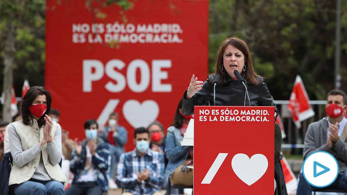 La vicesecretaria general del PSOE y portavoz del Grupo Parlamentario Socialista en el Congreso, Adriana Lastra. Foto: EP