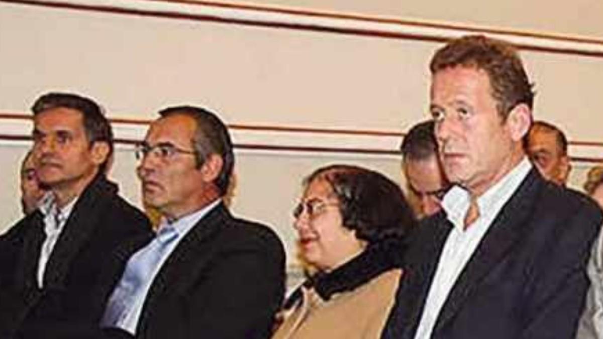 Luis Rajoy, primera por la derecha, hermano del ex presidente del Gobierno.