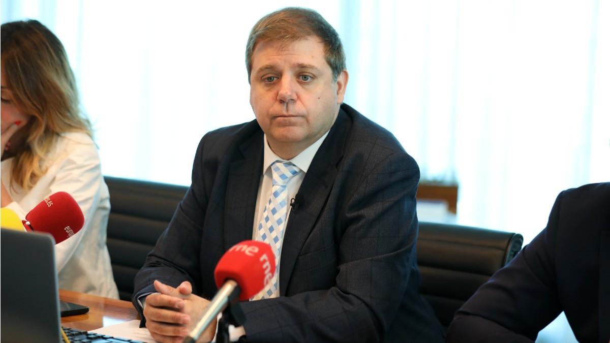 El presidente de Correos, Juan Manuel Serrano, durante la presentación de los resultados de la compañía en el primer trimestre 2019. (Foto: Europa Press)