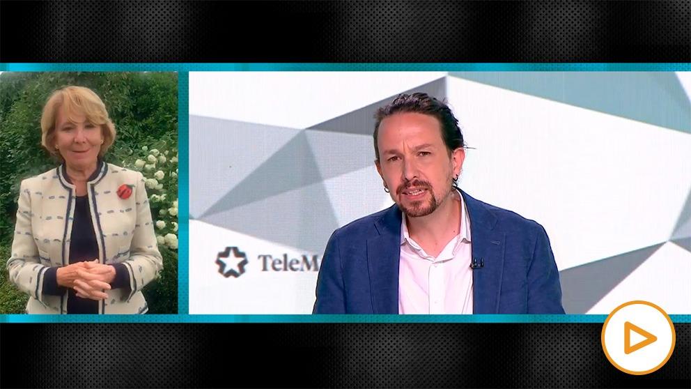 Imagen del vídeo blog de Esperanza Aguirre.