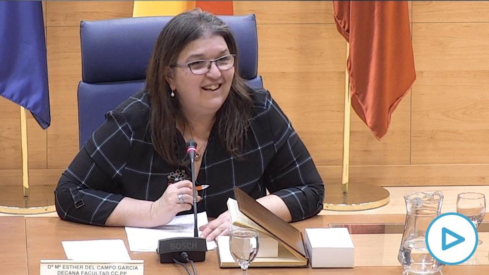 La decana de Políticas de la UCM, María Esther del Campo García.