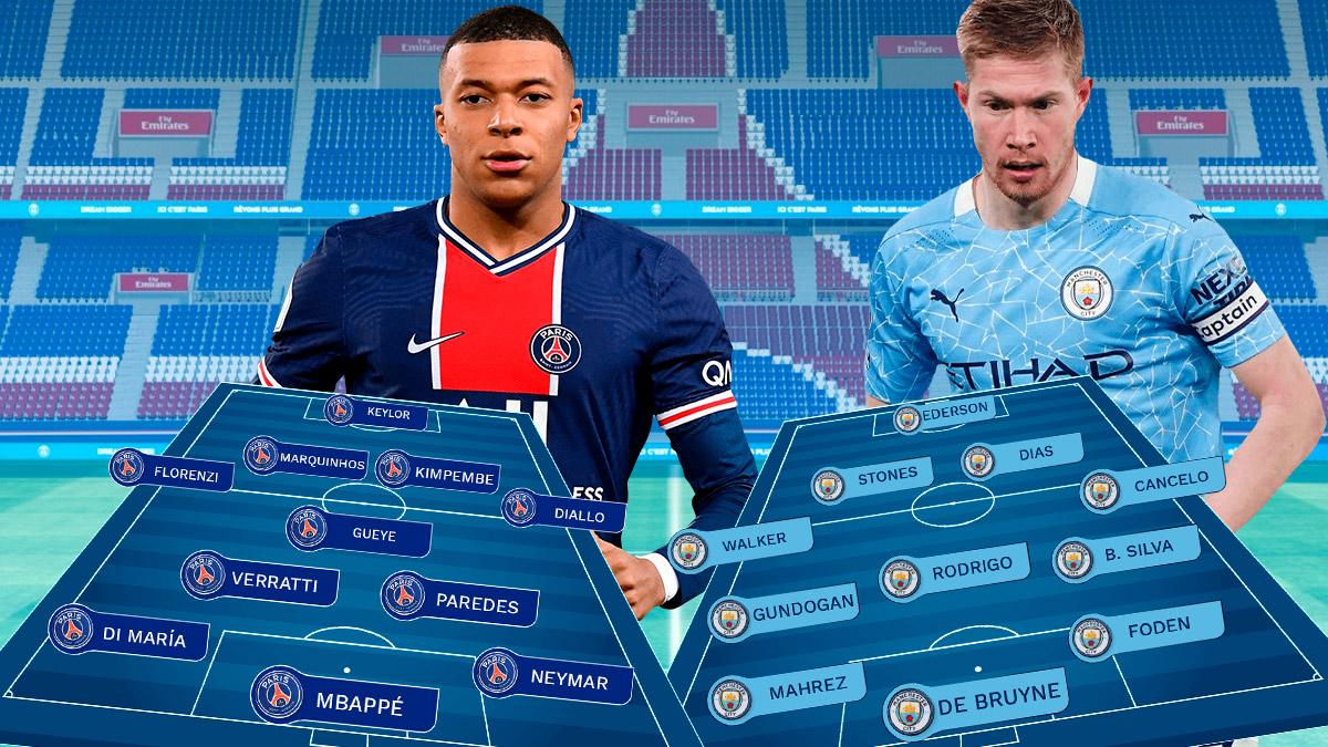 PSG – Manchester City: semifinales de la Champions League.