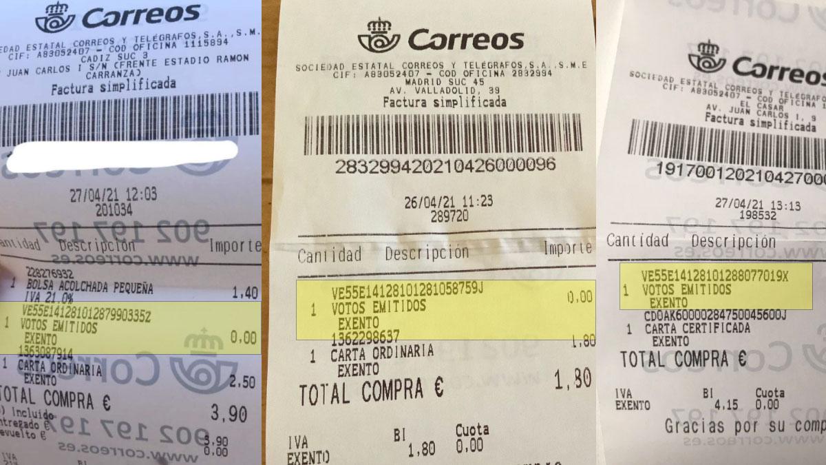 Tickets de Correos con votos asignados que no habían emitido los clientes.