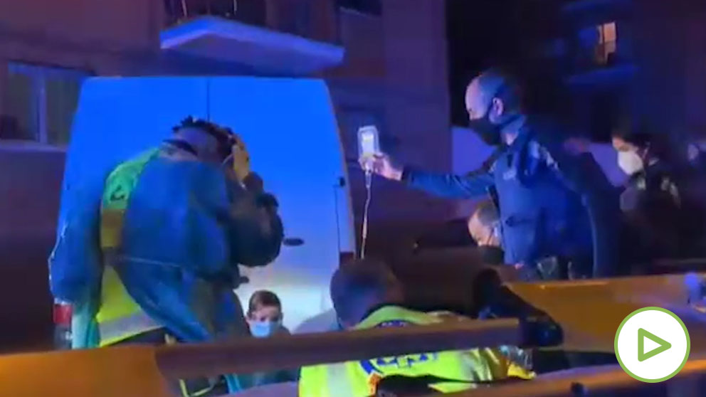 La Policía investiga el ataque con machetes a dos jóvenes en Usera.