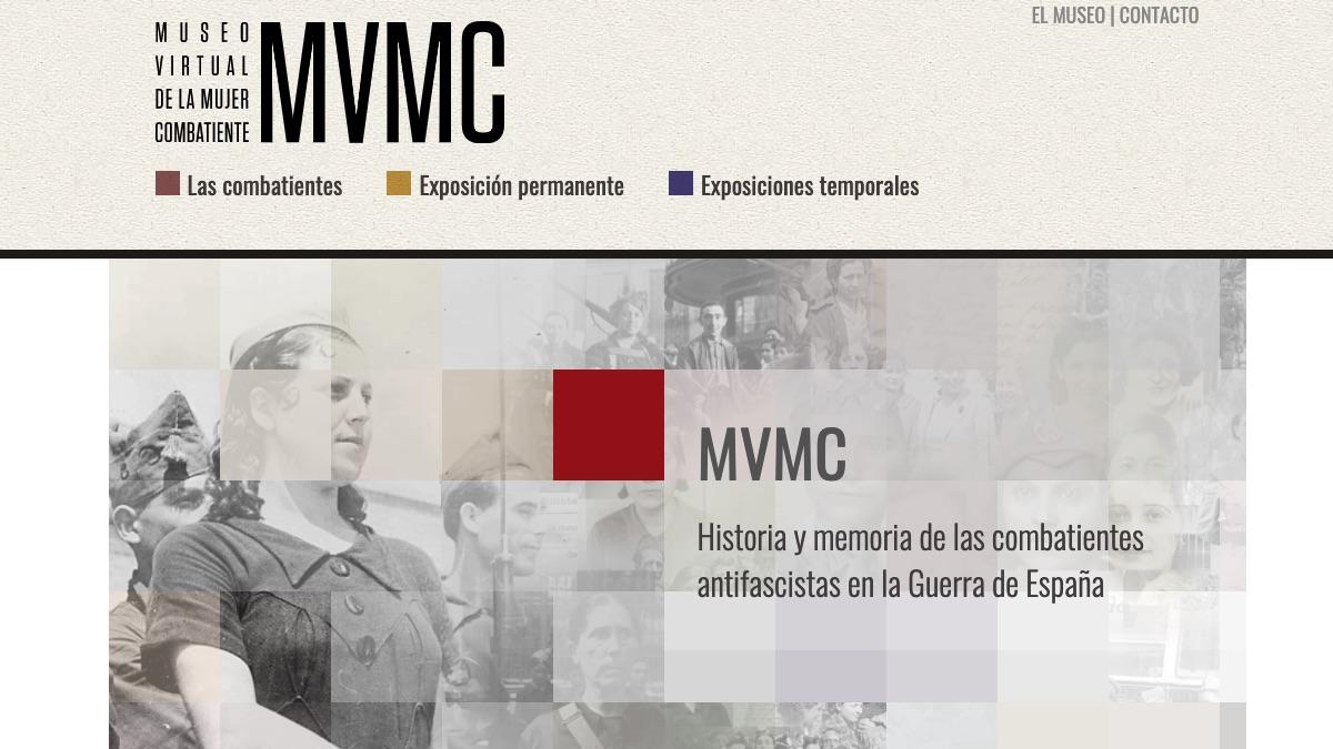 Irene Montero museo Web del Museo Virtual de la Mujer Combatiente.