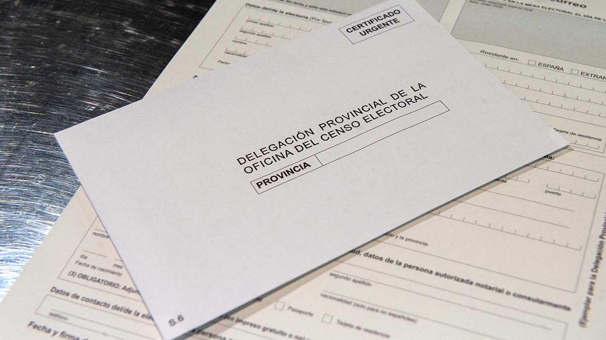 Ejemplo de voto por correo que se puede obtener en Correos