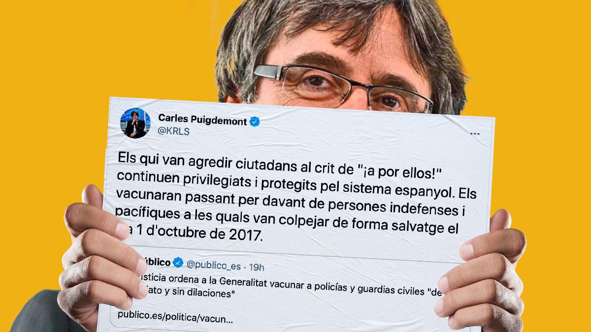 Puigdemont criticó la decisión del TSJ aludiendo al referéndum ilegal de y sus consecuencias.