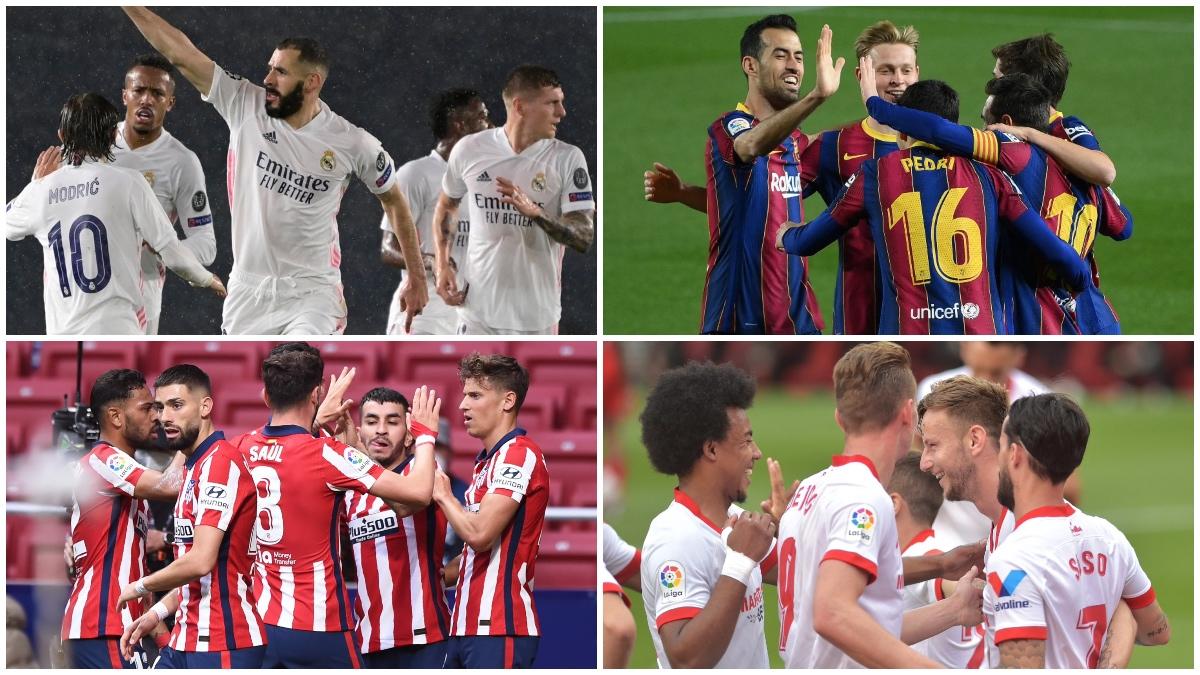 Real Madrid, Barcelona, Atlético de Madrid y Sevilla, candidatos al título.