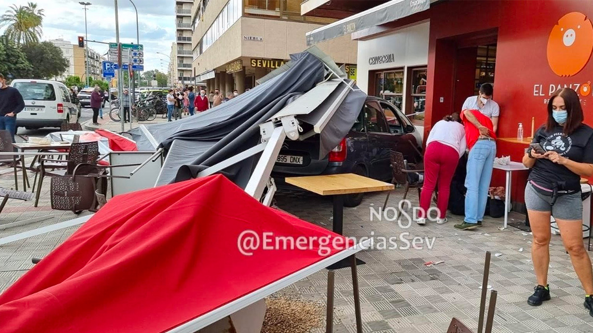 Escenario del accidente (Foto: Emergencias Sevilla).