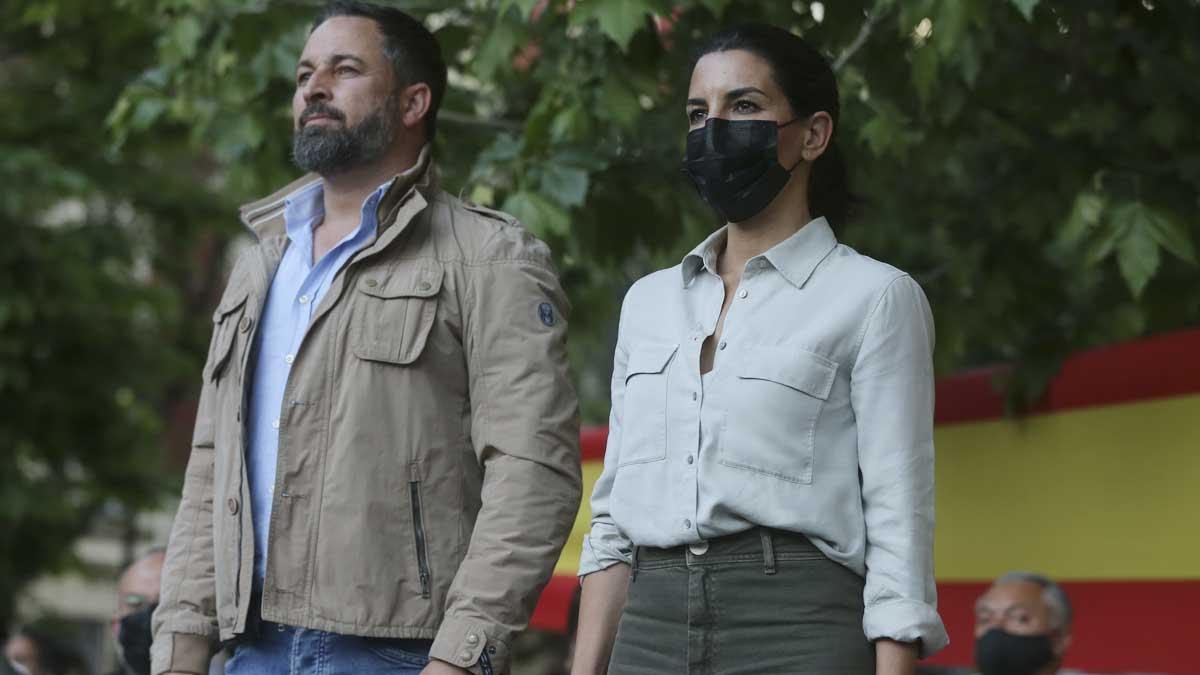 Rocío Monasterio y Santiago Abascal. Foto: Europa Press