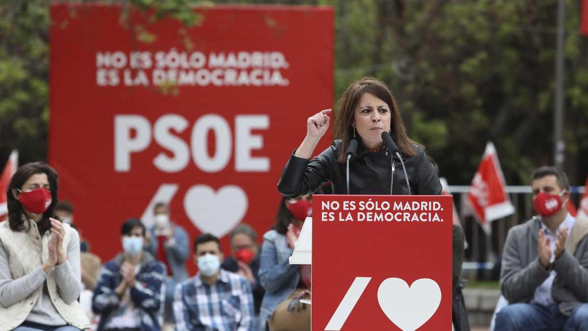 Adriana Lastra en un acto de campaña. Foto: Europa Press