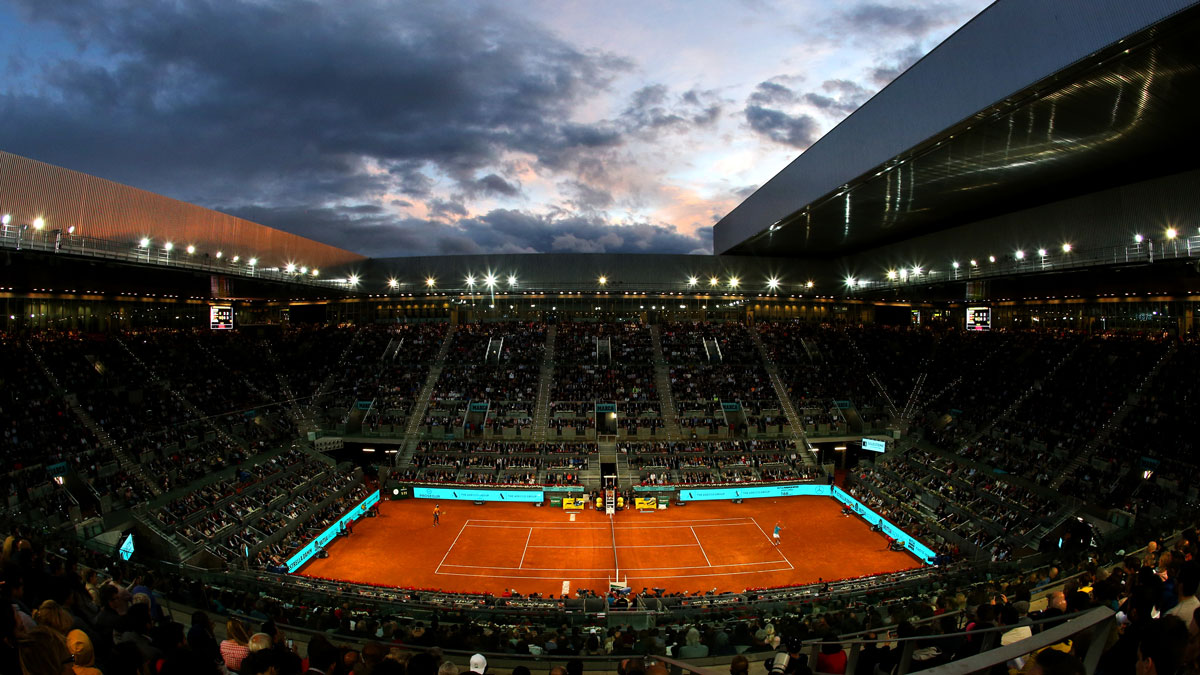 El Mutua Madrid Open durante una sesión nocturna (Getty)