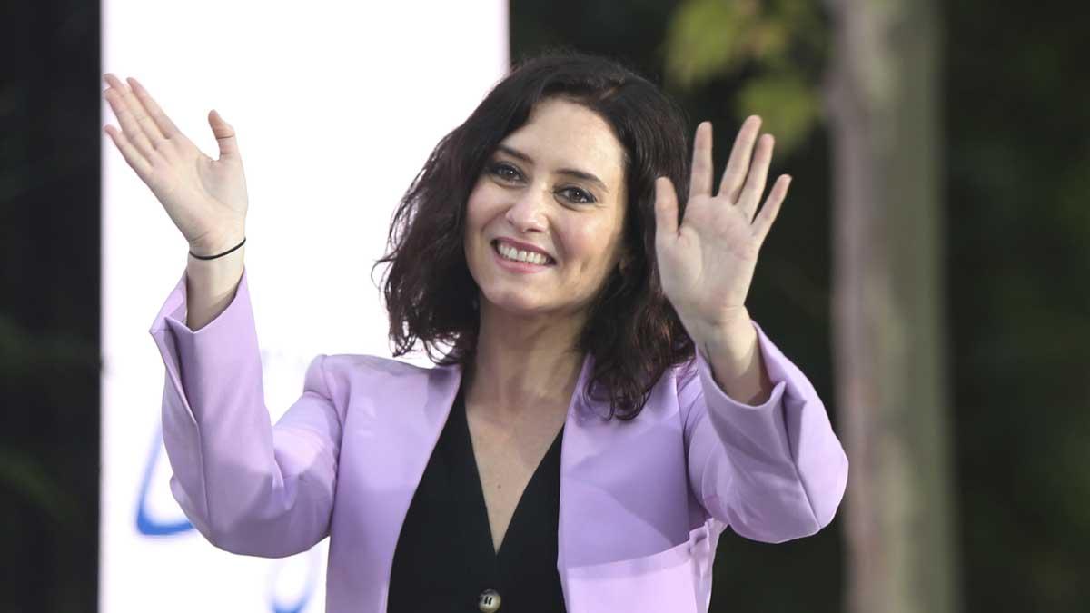 Isabel Díaz Ayuso en un acto de campaña. Foto: Europa Press