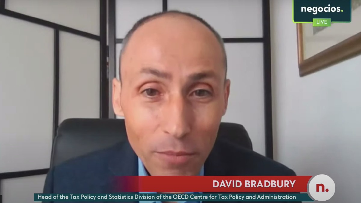 SDavid Bradbury, head of the tax policy and statistics division of the OECD entrevistado por Negocios