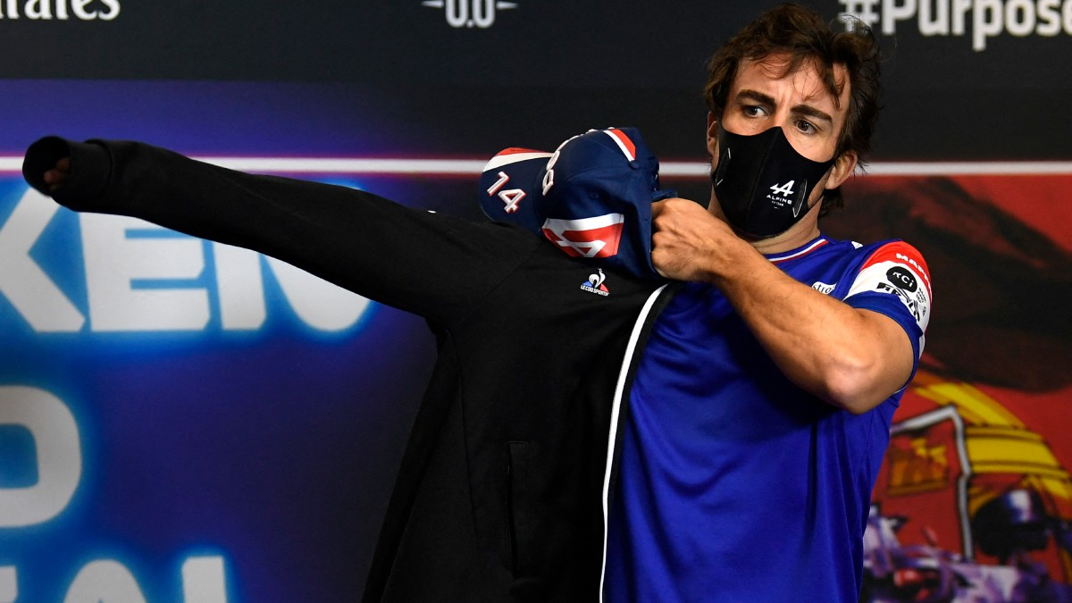 Fernando Alonso, en el GP de Portugal. (AFP)
