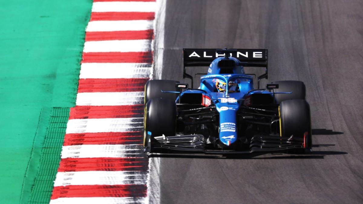 Fernando Alonso, en el Gran Premio de Portugal. (Getty)