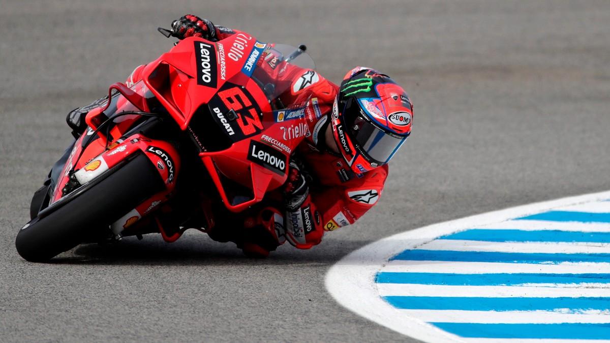 Pecco Bagnaia durante el GP de España de MotoGP. (EFE)