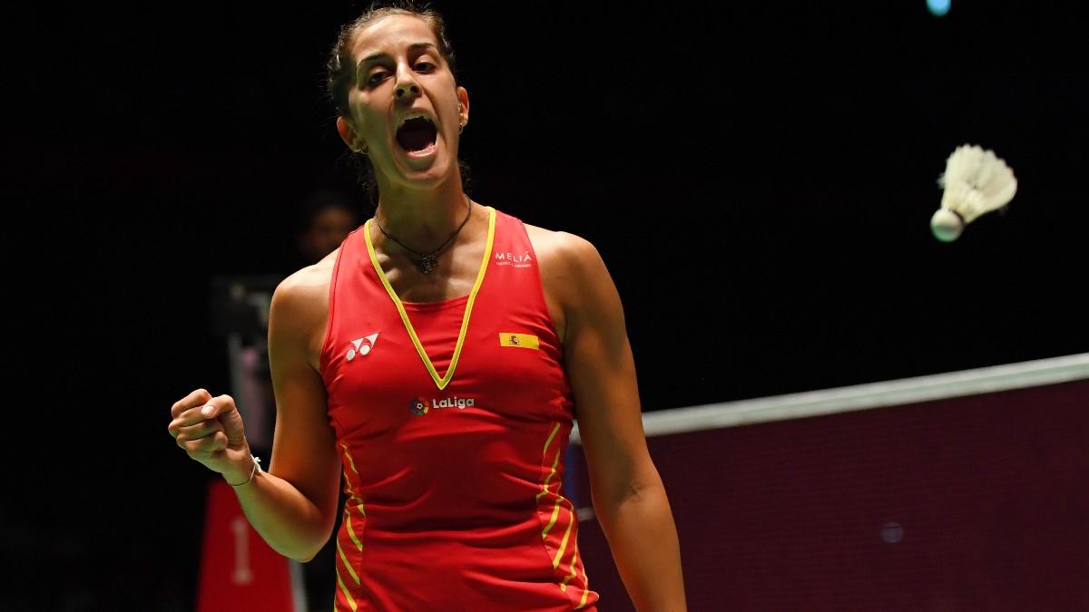 Carolina Marín, durante un partido. (Getty)