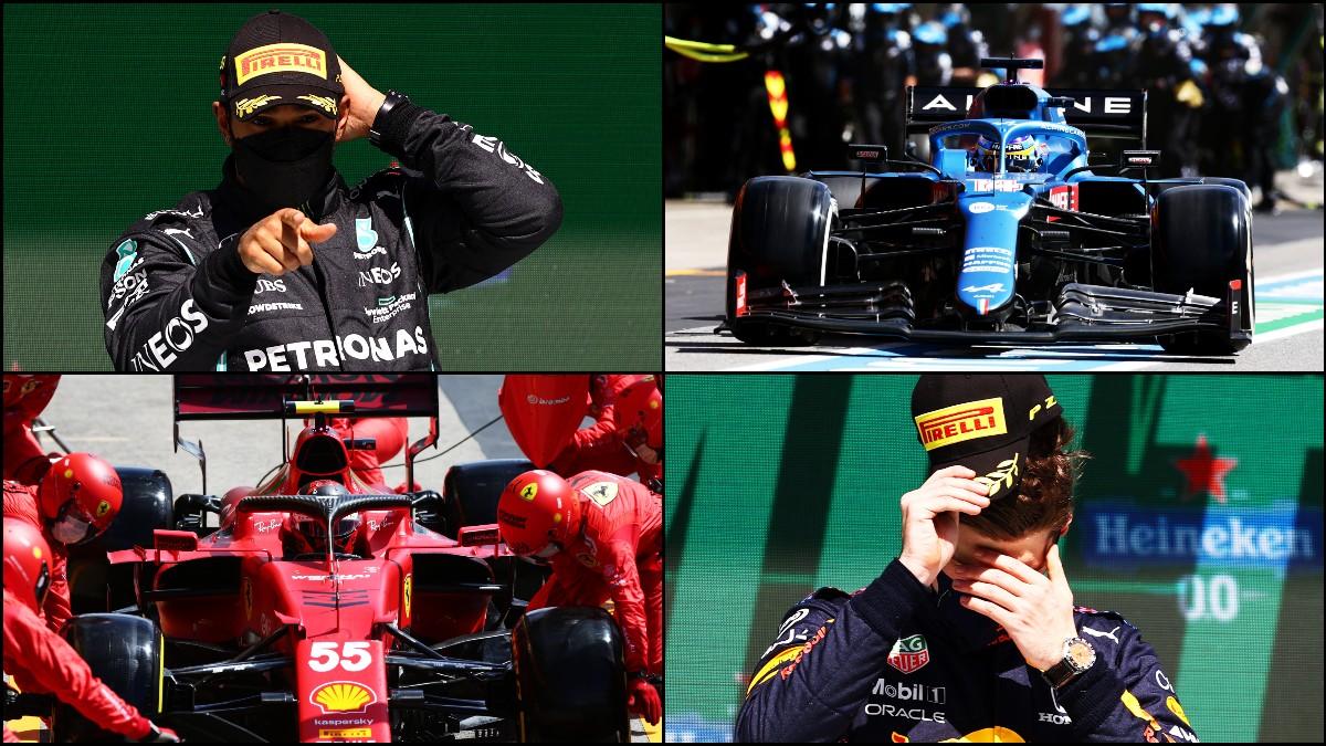 Hamilton, Alonso, Sainz y Verstappen, protagonistas en Portugal.