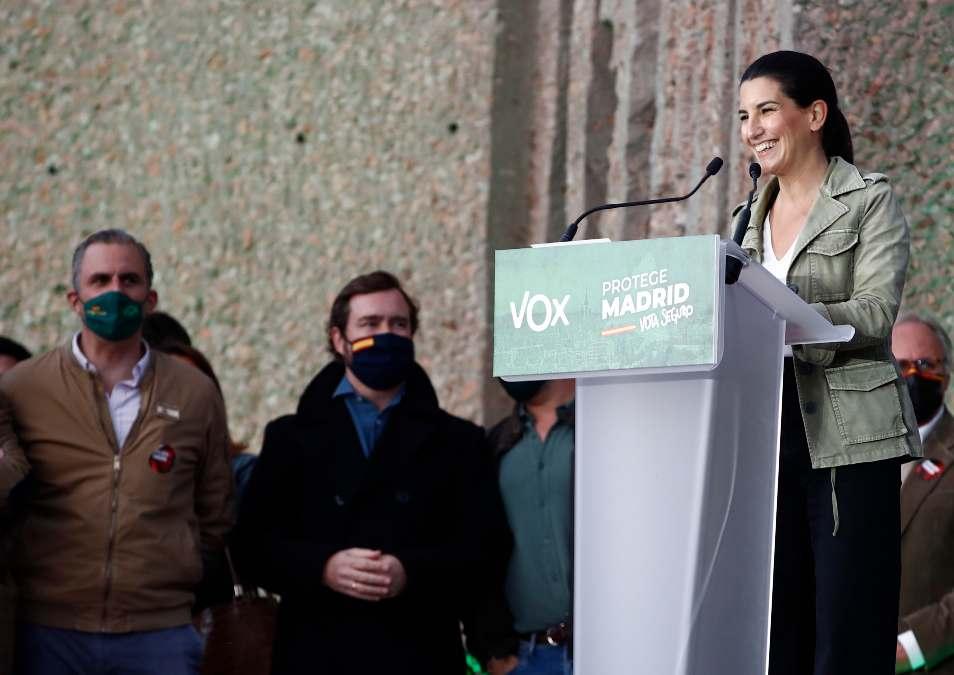 Rocío Monasterio, candidata de Vox al 4M.