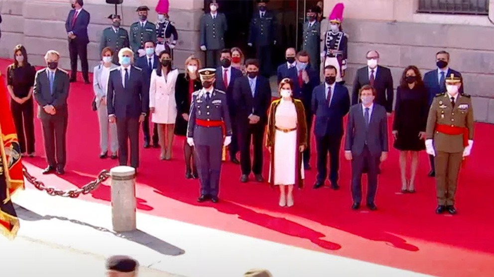Pablo Iglesias, el único ausente en los actos del 2 de Mayo.