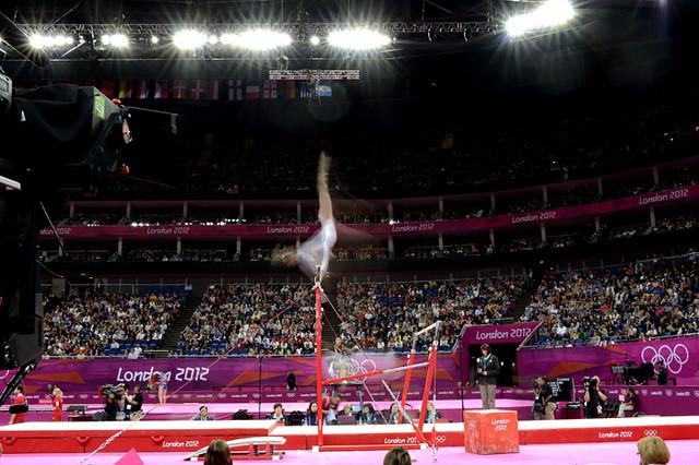 Una imagen de archivo de una gimnasta en los JJOO de Londres.