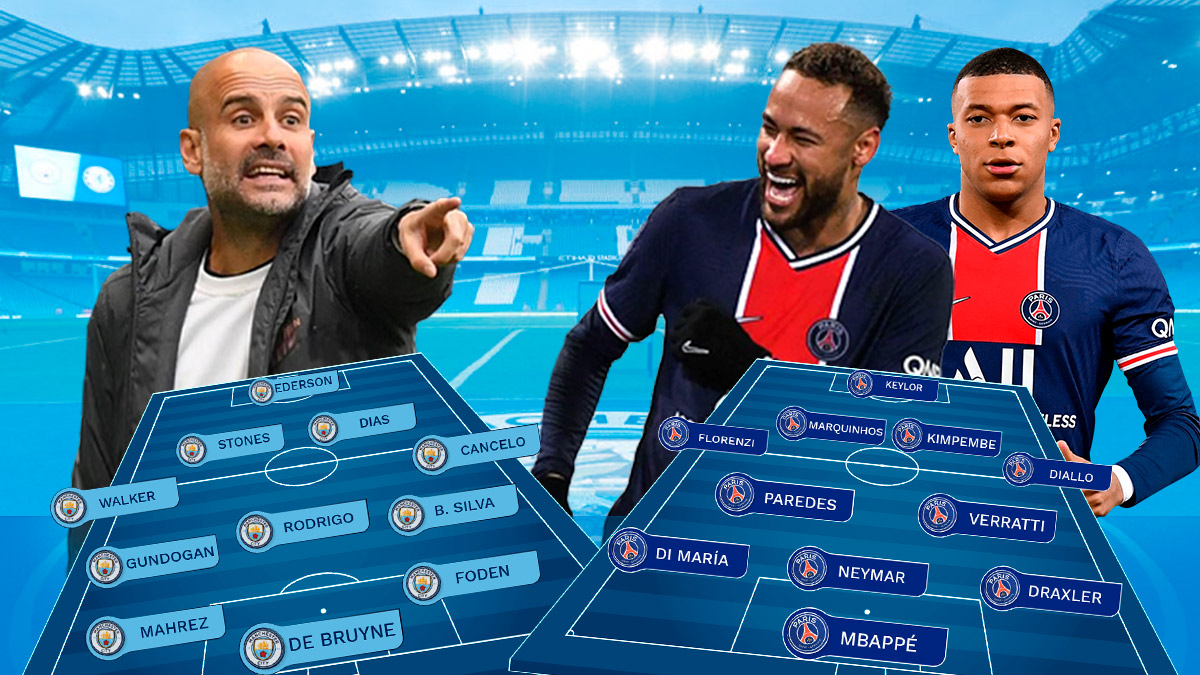 City y PSG se enfrentan en las semifinales de la Champions League.