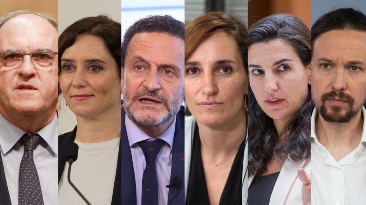 Los candidatos a las elecciones autonómicas de Madrid del 4M.