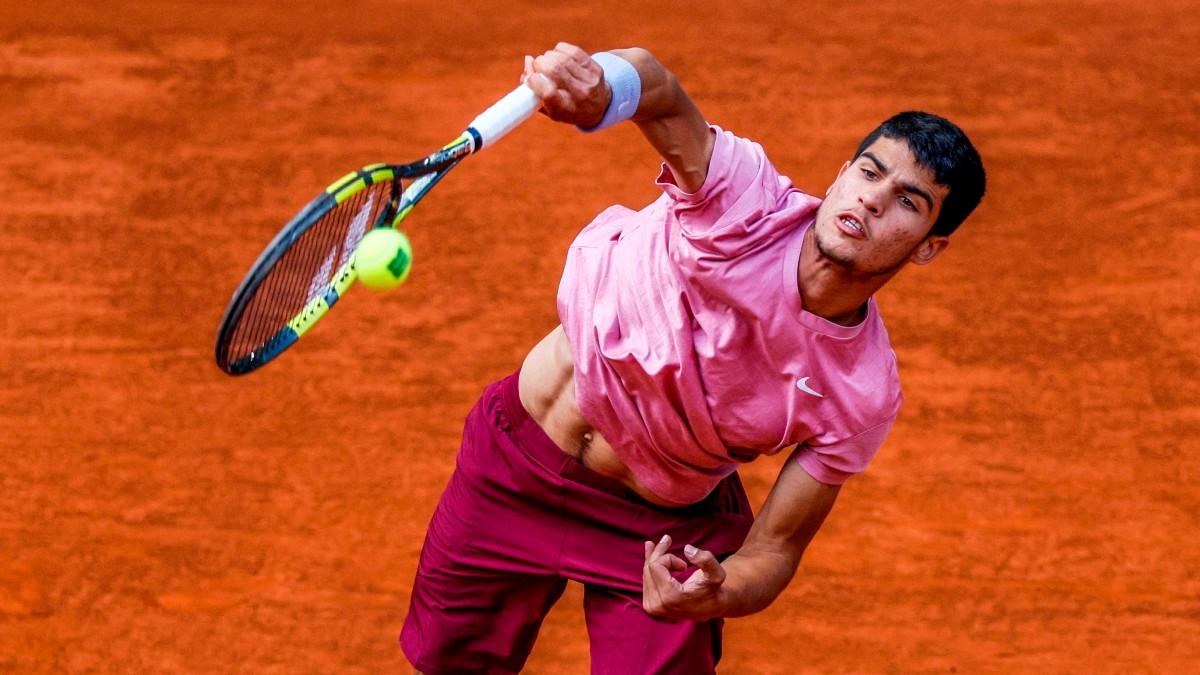 Carlos Alcaraz, en el Mutua Madrid Open. (EFE)