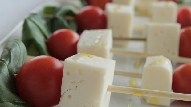Brochetas de queso