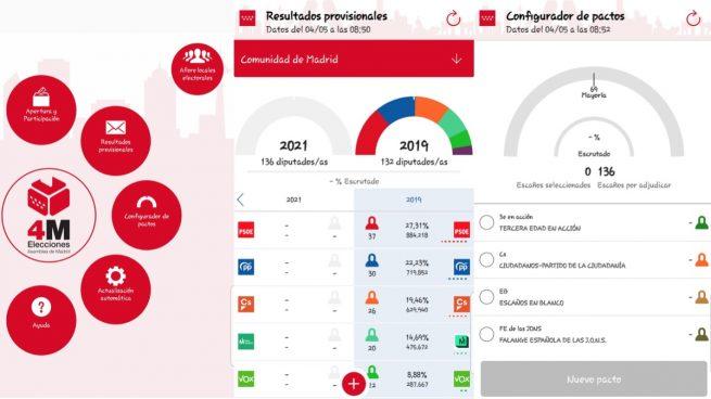 App Elecciones Madrid 2021: Así puedes seguir a tiempo real los resultados y el aforo de los colegios electorales