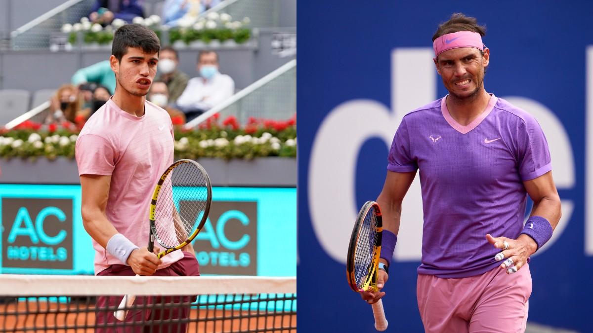 Carlos Alcaraz y Rafael Nadal.
