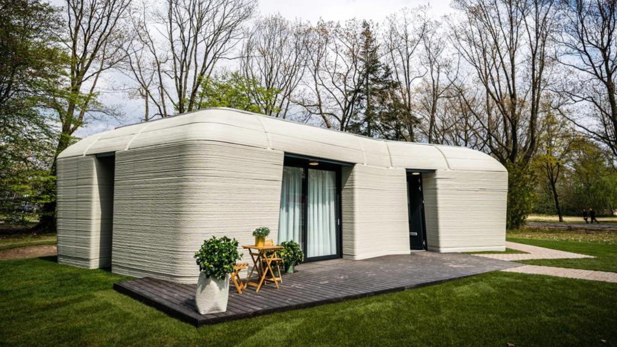 Casa impresa en 3D. (Foto: Rob Engelaar)