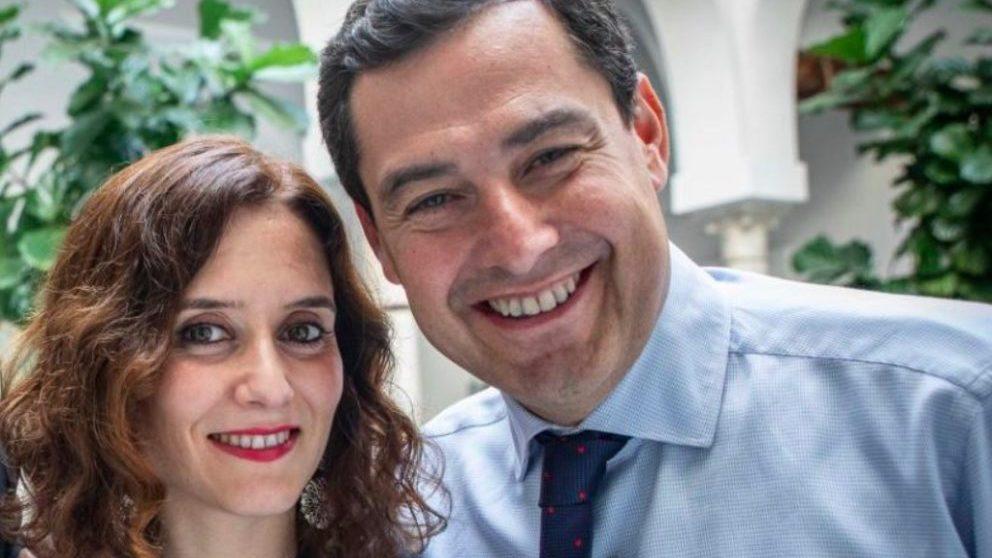 Juanma Moreno e Isabel Díaz Ayuso.