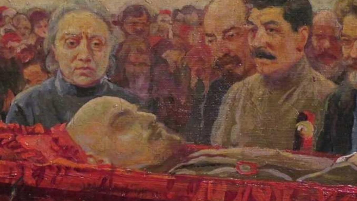 Imagen del entierro de Lenin