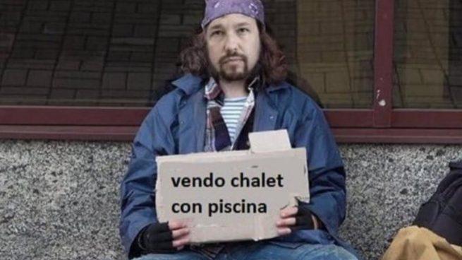 Memes Pablo Iglesias | Las redes se mofan del batacazo de Podemos y PSOE: «Se vende chalé con piscina en Galapagar»