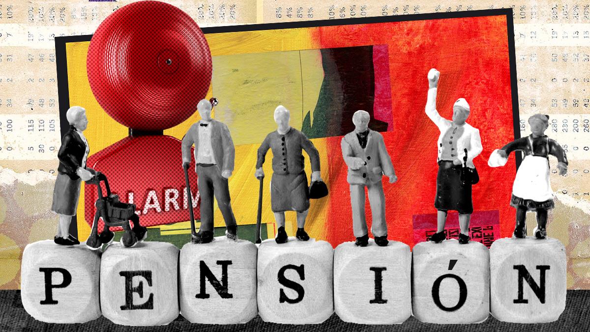 Imagen sobre el sistema de pensiones.