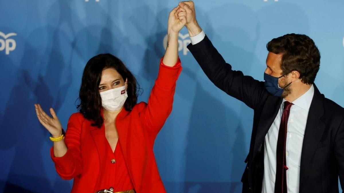 Isabel Díaz Ayuso y Pablo Casado
