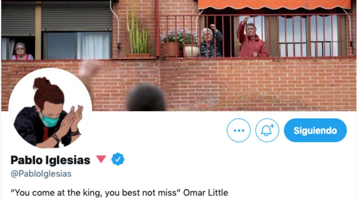 El perfil de Pablo Iglesias en redes sociales.