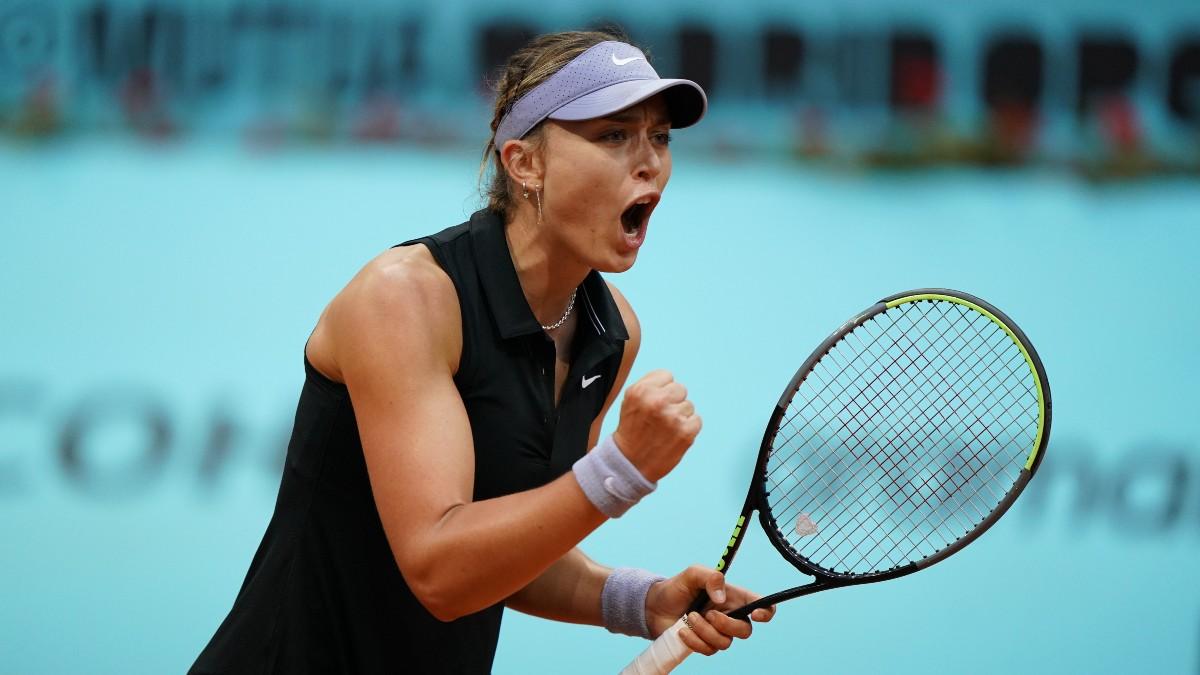 Paula Badosa celebra un punto. (Mutua Madrid Open)