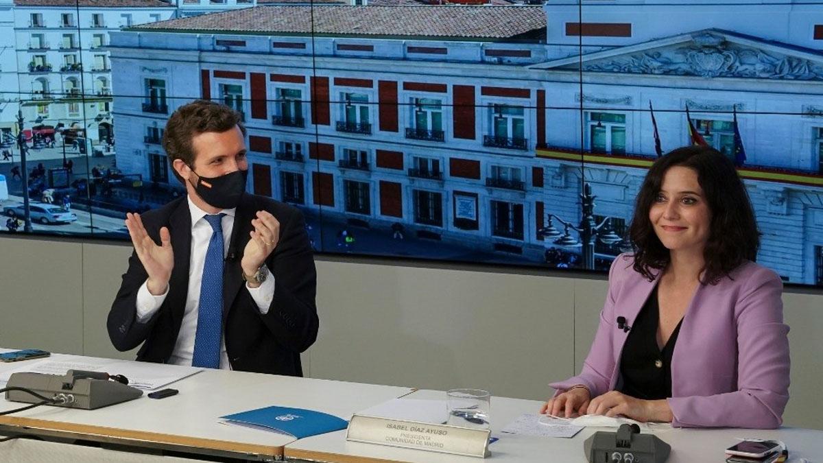 Pablo Casado e Isabel Díaz Ayuso (Foto: EP)