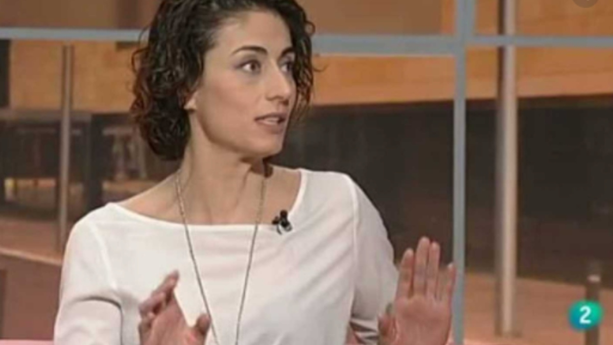 Celia Blanco en una de sus intervenciones en la televisión pública.