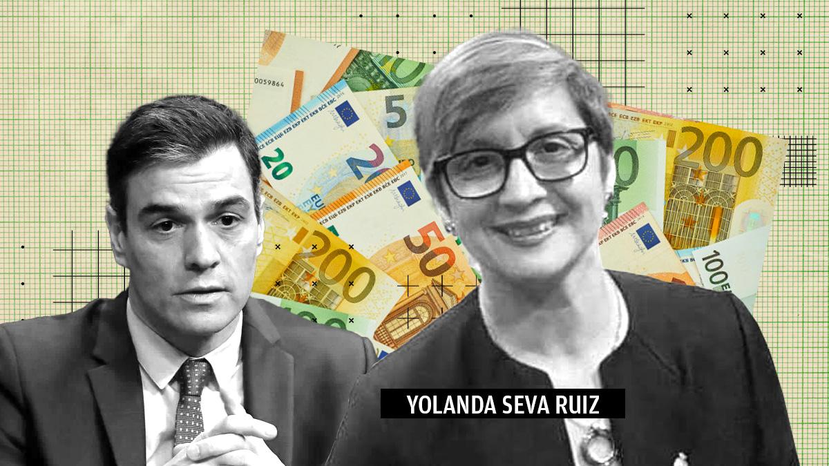 Diputada socialista Yolanda Seva y Pedro Sánchez.
