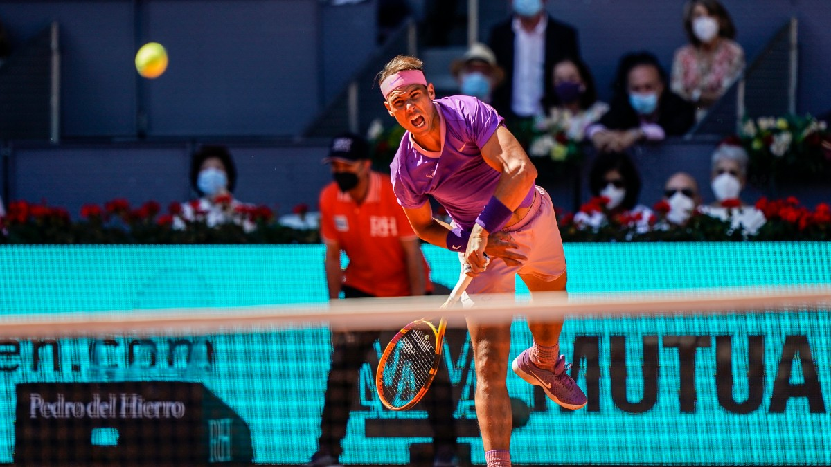 Nadal, en un partido en Madrid. (Mutua Madrid Open)