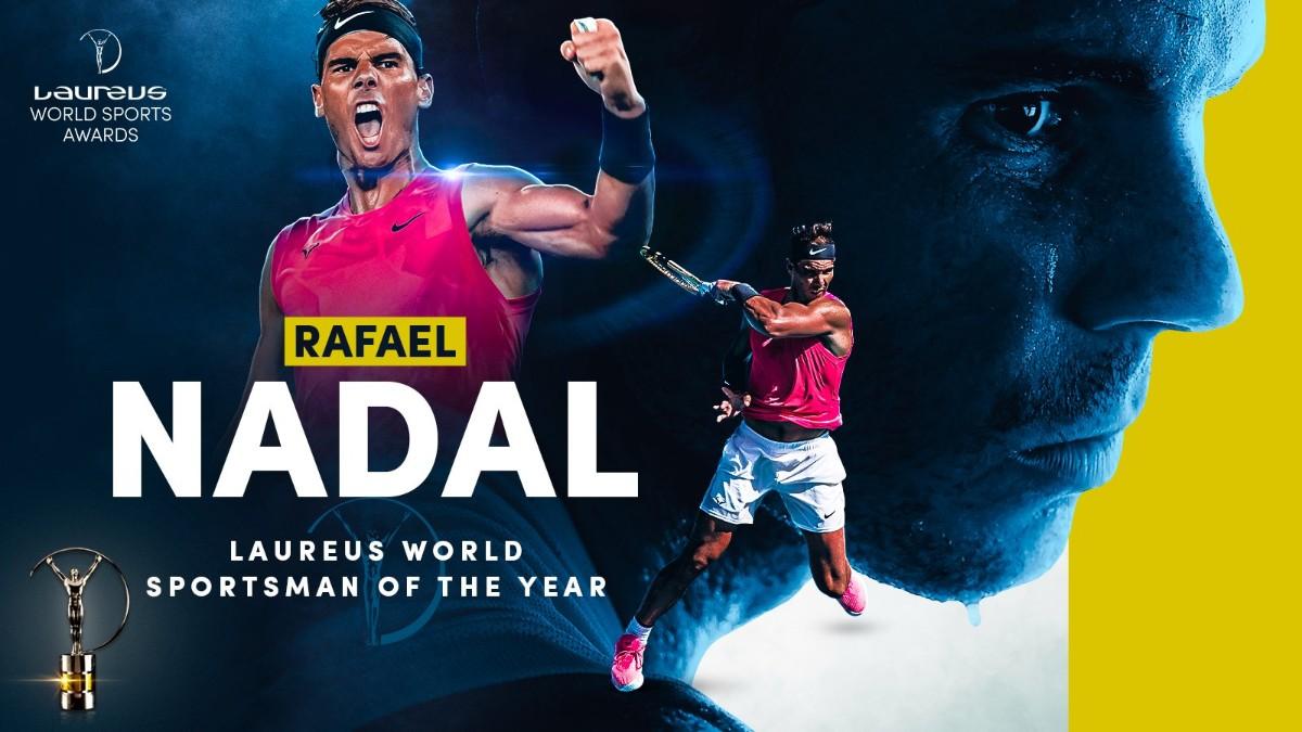Rafa Nadal, ganador del premio Laureus al Mejor deportista de 2020. (@LaureusSport)