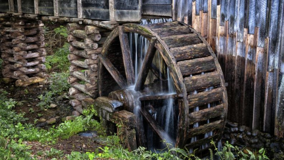 El molino de agua viene de la Antigua Grecia