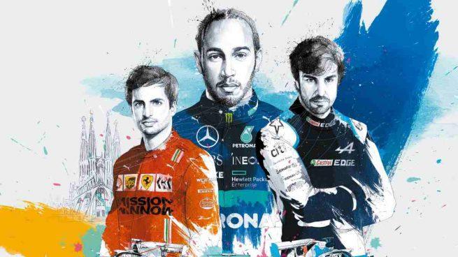 Sainz, Hamilton y Alonso
